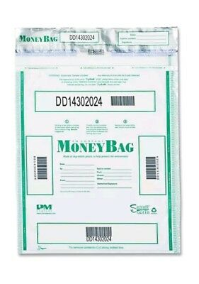 PM Company 58051 Triple Protection Tamper-Evident Deposit Bags, 19 x 24, 50/Pack