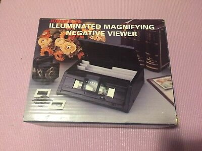 Jobar's Illuminated Magnifying Negative Viewer with Accessories New Open Box