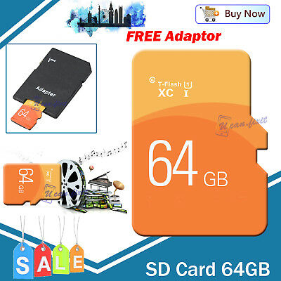 Ultra TF Flash Memory Card SD 64GB SDHC SDXC  Free Adapter For Phones etc