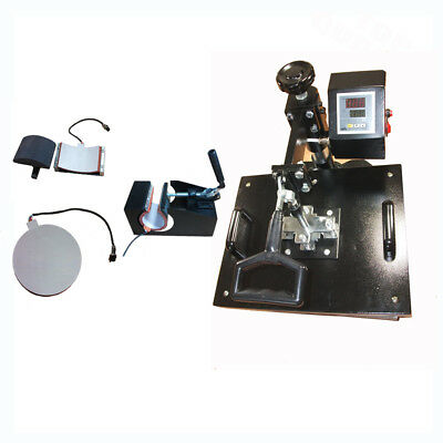 HEAT PRESS MACHINE 4 in 1 COMBO MUG HAT T-SHIRT PLATE sublimation ink