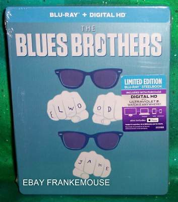 Brand New Rare Oop Blues Brothers Limited Edition Steelbook Blu Ray Movie 1980