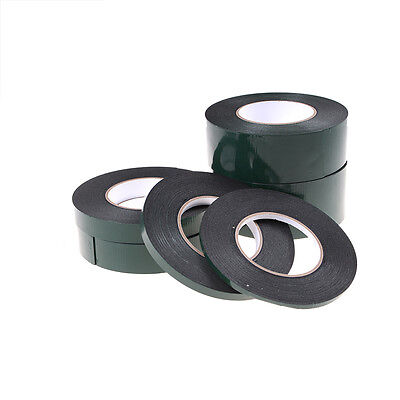 6-60mm*10m Strong Waterproof Adhesive Double Sided Foam Black Tape For Car EW