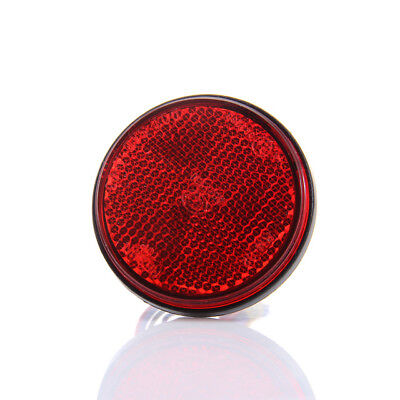 M.C.S RED Round REFLECTOR 39mm Motorcycle Motorbike **NEW*