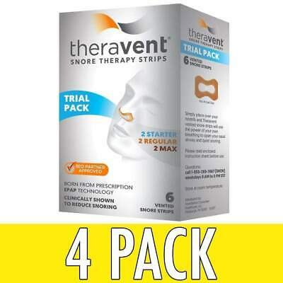 Theravent Snore Therapy Strips, Trial Pack, 6 ea, 4 Pack