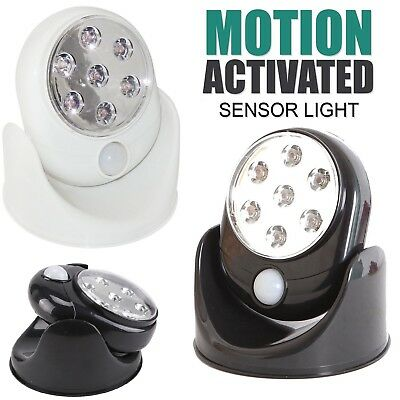 Motion Activated Cordless Sensor LED Light Indoor/Outdoor 360° Rotatable Garden