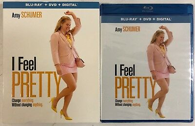 New Sealed I Feel Pretty Blu Ray Dvd Digital Hd 2 Disc Set + Slipcover Sleeve