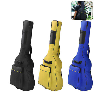 Full Sizes Padded Protective Classical Acoustics Guitar Back Bag Carry Case Uk