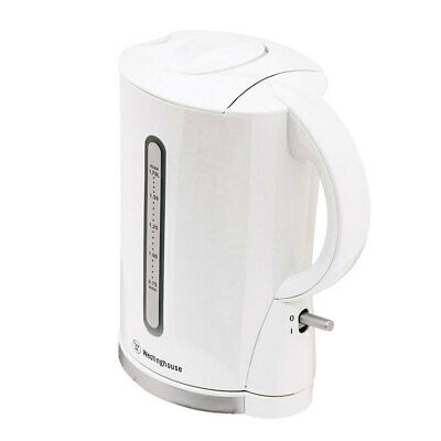 Westinghouse 1.7L Plastic Cordless Hot Water Kettle Jug Boiler Coffee/Tea White