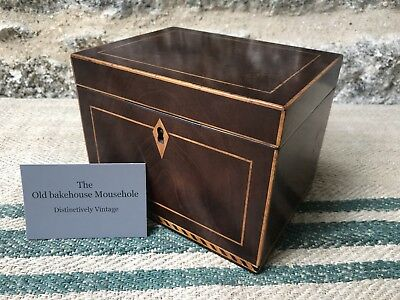 A Georgian Inlaid Mahogany single Tea Caddy