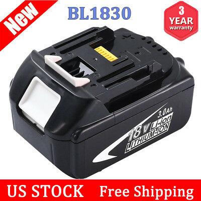3.0Ah Replace For Makita 18V Battery Lithium-Ion BL1830 BL1815 BL1840 Power Tool