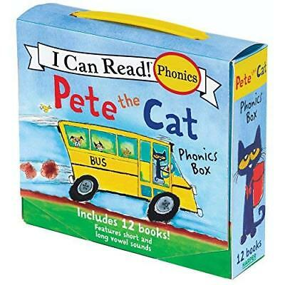 Pete The Cat Book Phonics Box Set Reading Collection Toddler First Read Learning