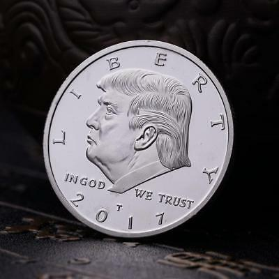 Silver 2017 President of the United States Trump Gold Plated Commemorative Coins