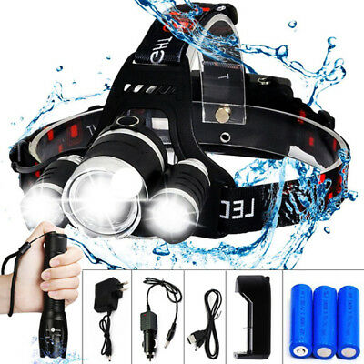 LED Camping Fishing Headlamp Headlight Head Lamp Light Flashlight Torch Lantern