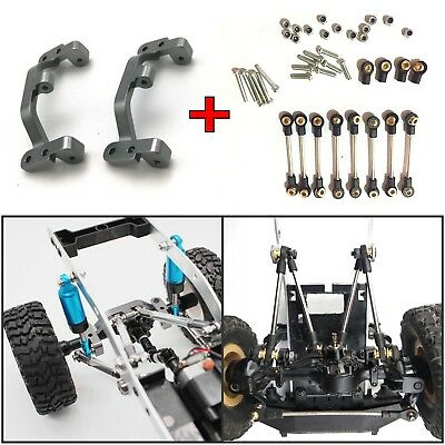 Metal Toe Link Tie Rod + Pull Rod Base Seat For 1/16 WPL B14 B16 B24 C24 C14 RC