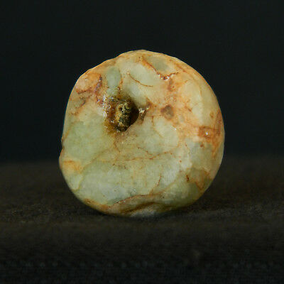 KYRA MINT - ANCIENT Amazonite BEAD 亚马逊珠 - 17.9 mm LARGE - Saharian NEOLITHIC