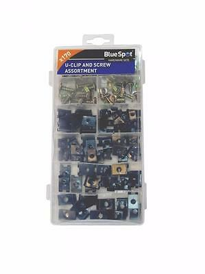 170 Piece Assorted U Clip And Screw Set Speed Nut Kit Car Caravan Car Fa73