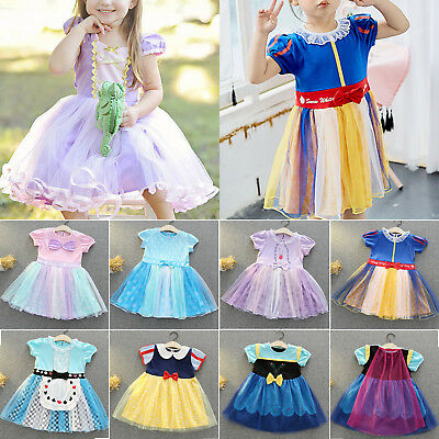 Toddler Kid Girls Baby Princess Frozen Snow White Cinderella Party Fancy Dress