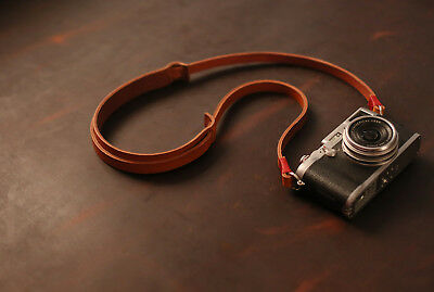 Best Camera Strap Handmade light brown leather shoulder pad from windmup