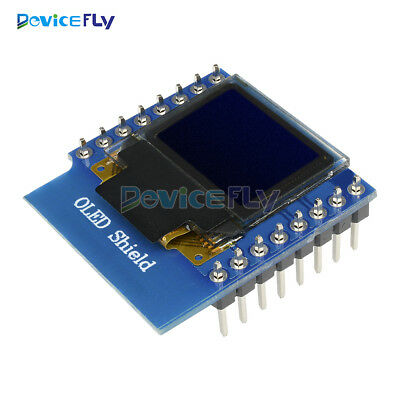 """OLED Shield for WeMos D1 Mini 0.66"""" inch 64X48 IIC I2C for Arduino Compatible"""