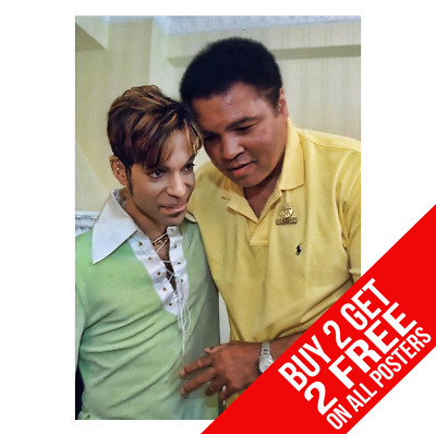 Prince & Muhammad Ali Poster Art Print A3 A4 Size - Buy 2 Get Any 2 Free