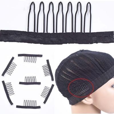 10PcSet Black Wig Comb Clips For Wig Caps And Wig Making  SaleD