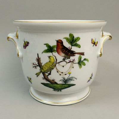 Finely Hand Painted Herend Rothschild Pattern Porcelain Jardiniere