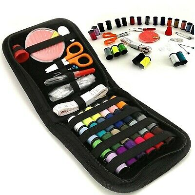 46 Piece Portable Travel Small Home Sewing Kit Case Needle Thread Scissor Set