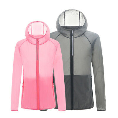 Womens Waterproof Sunproof Mens Jacket Bike Bicycle Outdoor Sports Running Coat