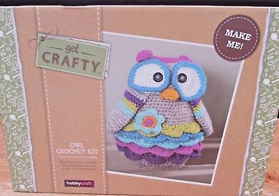New Owl Crochet Kit Boxed Hobbycraft Sewing Knitting Hobby Gift