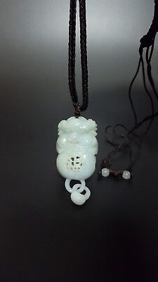Hand-Carved Chinese Jade Nephrite Pendant