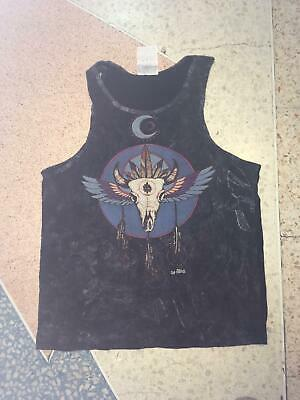 Yoga Men Tank Top sleeveless cotton Dream catcher Indian Tribe Hippie No Time M