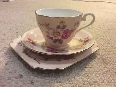 Vintage Aynsley Tea Cup, Plate And Saucer