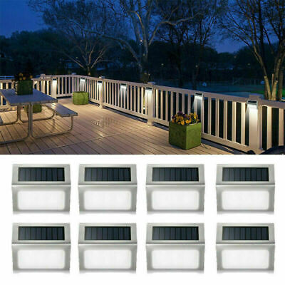 11X Super Bright Solar Powered LED Fence Light Outdoor Garden Security Wall Lamp