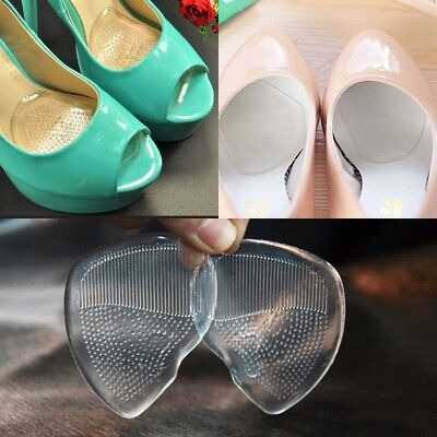 Shoes Silicone Gel Pad Women High Heel Insole Cushion Foot Insert Pads 3 Pairs