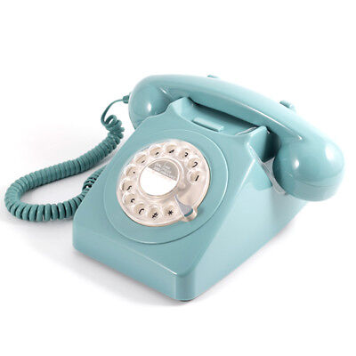 GPO Retro Rotary Dial Telephone - Available in 8 Colours - Blue