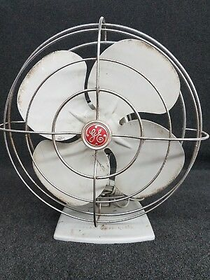 "Vintage General Electric 12"" Oscillating Fan - Works Great"