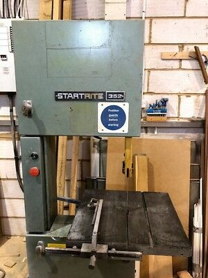 "3 Phase Startrite 352 Bandsaw 112"" - Inc dozen of saw blades."