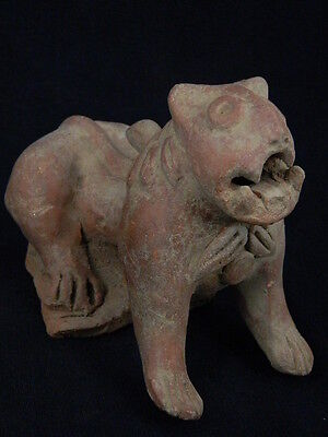 Ancient Large Size Teracotta Lion Bactrian 300 BC  No Reserve #TR1040