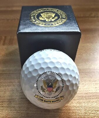 President Donald J Trump Presidential Seal THE WHITE HOUSE Design Gift Golf Ball