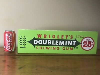 VINTAGE WRIGLEYS CHEWING Gum Store Display Box Large Doublemint Simple Wrigley's Chewing Gum Display Stand