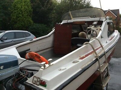 fishing boat. 17ft cjr fast fisher on trailor