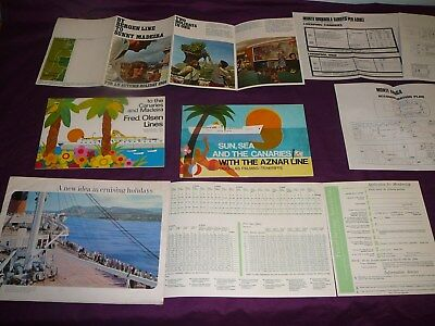 Collection Of 9 Vintage Travel Brochures 1963/4 To 1973/4  With Free Uk Postage