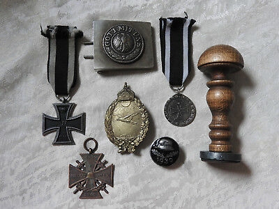 German set WWII badges stamp buckle Iron Cross WWI WWII