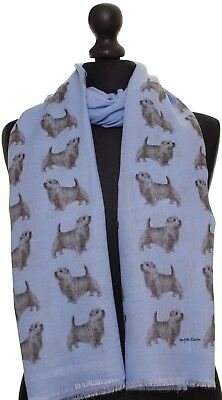 Norfolk Terrier Scarf dog print scarves printed ladies fashion womens shawl