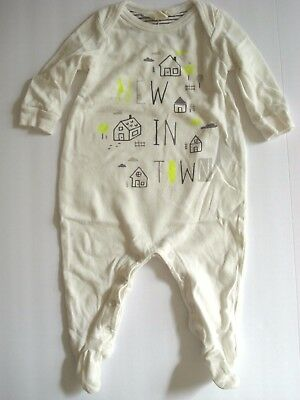 GAP Baby Organic Cotton New In Town Footed Pajama Sleeper Unisex 0-3 Months PRE