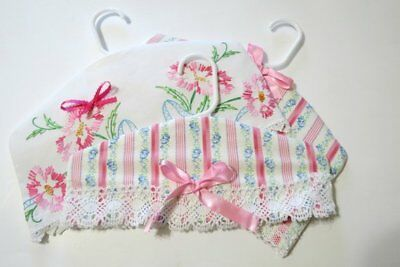 Handmade Baby Clothes Hanger Cover Made From Vintage Linens