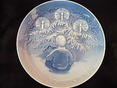 B & G, Bing & Grondahl, 1895-1980 Christmas Plate, Happiness Over the Yule Tree