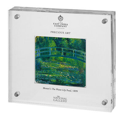 2017 Niue Monet Water Lily Pond 2 oz Silver Proof Coin in Display only 1000 made