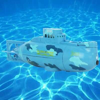 Mini RC Submarine Radio Remote Control LED Searchlight Under Water Kid Gift Toy
