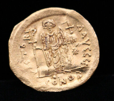 Justinian I (527-565 AD) Gold Solidus Byzantine Empire Eastern Holy Roman Empire